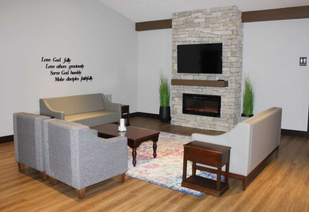 Epworth Umc Stone Fireplace And Custom Furniture